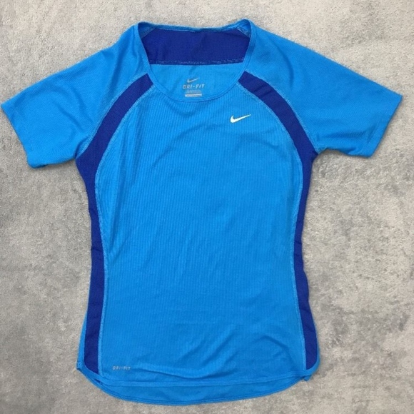 shop best sellers picked up new york Nike Dri Fit Women's XS Blue Athletic Shirt
